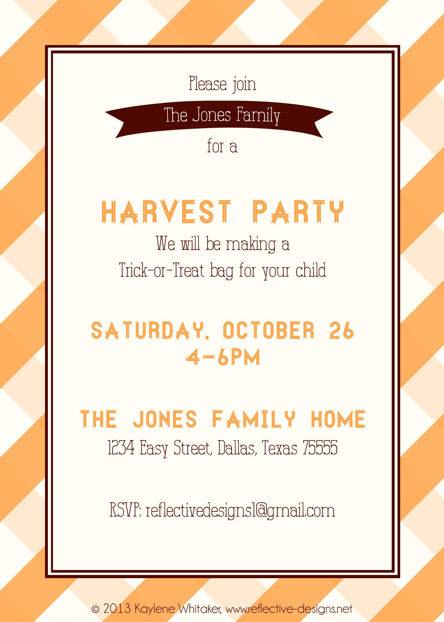 harvest party invitations - Kubre.euforic.co